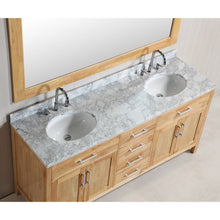 "Load image into Gallery viewer, Design Element London Stanmark 72"" Double Sink Vanity Set in Honey Oak DEC076B-O - Vanity Connection"