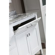 "Load image into Gallery viewer, Design Element London Stanmark 72"" Double Sink Vanity Set w/ matching linen cabinets in White DEC076B-W_CAB004-WX2 - Vanity Connection"