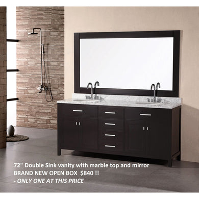 Design Element London Stanmark 72″ Double Sink Vanity Set in Espresso DEC076B - Vanity Connection