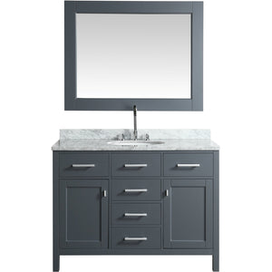 Design Element London Stanmark 48″ Single Sink Vanity Set in Country Gray DEC076C-G - Vanity Connection