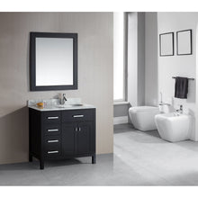 "Load image into Gallery viewer, Design Element London Stanmark 36"" Single Sink Vanity Set in Espresso-Left DEC076D-L - Vanity Connection"