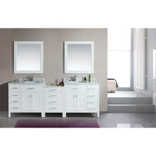 "Load image into Gallery viewer, Design Element London Stanmark 92"" Double Sink Vanity Set in White DEC076D-W-92 - Vanity Connection"