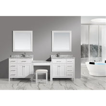 "Load image into Gallery viewer, Design Element Two London Stanmark 36"" Single Sink Vanity Set w/ Make-up table in White DEC076D-W_DEC076D-L-W_MUT-W - Vanity Connection"