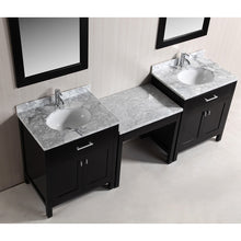 "Load image into Gallery viewer, Design Element Two London 30"" Single Sink Vanity Set and One Make-up table in Espresso DEC076EX2_MUT - Vanity Connection"