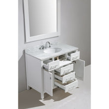 "Load image into Gallery viewer, Design Element London Stanmark 42"" Single Sink Vanity Set in White DEC076F-W - Vanity Connection"