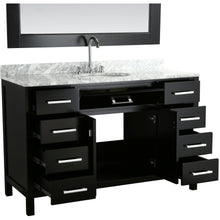 "Load image into Gallery viewer, Design Element London Stanmark 54"" Single Sink Vanity Set in Espresso DEC076H-E-WT - Vanity Connection"