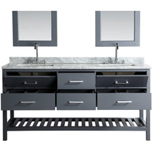 Load image into Gallery viewer, Design Element London Cambridge 72″ Double Sink Vanity Set in Country Gray DEC077B-G - Vanity Connection