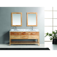 Load image into Gallery viewer, Design Element London Cambridge 72″ Double Sink Vanity Set in Honey Oak DEC077B-O - Vanity Connection