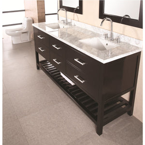 Design Element London Cambridge 72″ Double Sink Vanity Set in Espresso DEC077B - Vanity Connection