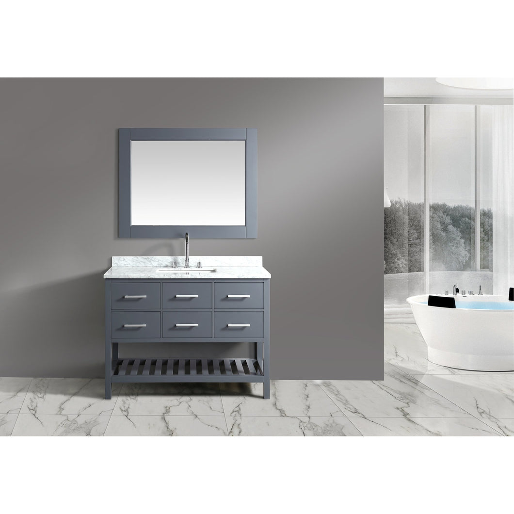 Design Element London Cambridge 48″ Single Sink Vanity Set in Country Gray DEC077D-G - Vanity Connection
