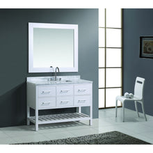 Load image into Gallery viewer, Design Element London Cambridge 48″ Single Sink Vanity Set in White Finish DEC077D-W - Vanity Connection