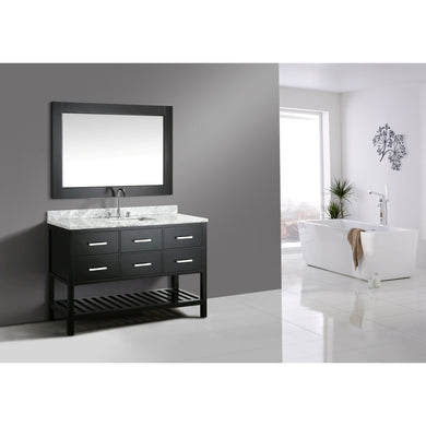 Design Element London Cambridge 54″ Single Sink Vanity Set in Espresso DEC077H-E-WT - Vanity Connection