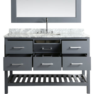 Design Element London Cambridge 54″ Single Sink Vanity Set in Country Gray DEC077H-G-WT - Vanity Connection