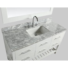 "Load image into Gallery viewer, Design Element London Cambridge 54"" Single Sink Vanity Set in White DEC077H-W-WT - Vanity Connection"