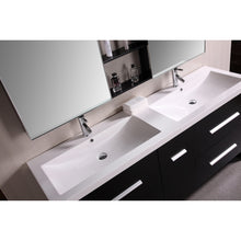 "Load image into Gallery viewer, Design Element Perfecta 63"" Double Sink Vanity Set in Espresso DEC079A - Vanity Connection"