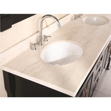 Load image into Gallery viewer, Design Element Marcos 72″ Double Sink Vanity Set with Travertine Stone Countertop in Espresso DEC081B - Vanity Connection