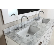 "Load image into Gallery viewer, Design Element London Hyde 60"" Double Sink Vanity Set in White Finish DEC082A-W - Vanity Connection"
