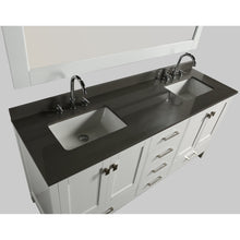 Load image into Gallery viewer, Design Element London Hyde 72″ Double Sink Vanity Set in White | Smoke Gray Quartz DEC082B-W-GT - Vanity Connection