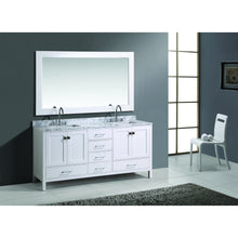 "Load image into Gallery viewer, Design Element London Hyde 72"" Double Sink Vanity Set in White Finish DEC082B-W - Vanity Connection"