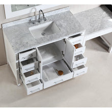 "Load image into Gallery viewer, Design Element Two London 48"" Single Sink Vanity Set in White Finish w/ Make-up table DEC082C-WX2_MUT-W - Vanity Connection"
