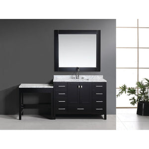 Design Element London Hyde 48″ Single Sink Vanity Set in Espresso Finish w/ Make-up table DEC082C_MUT - Vanity Connection