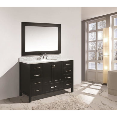 Design Element London Hyde 54″ Single Sink Vanity Set in Espresso Finish DEC082D-E - Vanity Connection
