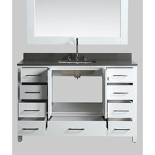 Load image into Gallery viewer, Design Element London Hyde 54″ Single Sink Vanity Set in White | Smoke Gray Quartz DEC082D-W-GT - Vanity Connection