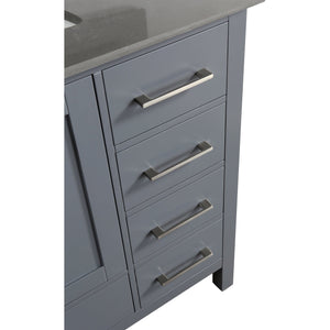 Design Element London Hyde 36″ Vanity Set in Country Gray | Smoke Gray Quartz DEC082F-G-GT - Vanity Connection