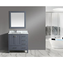 Load image into Gallery viewer, Design Element London Hyde 36″ Vanity Set in Country Gray | Carrara Marble DEC082F-G-WT - Vanity Connection