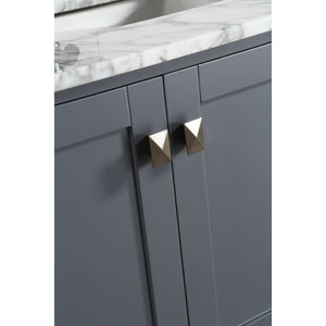 Design Element London Hyde 36″ Vanity Set in Country Gray | Carrara Marble DEC082F-G-WT - Vanity Connection