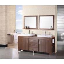 Load image into Gallery viewer, Design Element Washington 72″ Double Sink Vanity Set in Toffee DEC083D-L - Vanity Connection