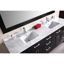 Load image into Gallery viewer, Design Element London Stanmark 78″ Double Sink Vanity Set in Espresso DEC088 - Vanity Connection