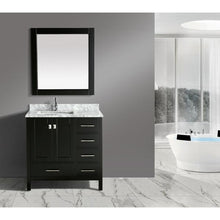 "Load image into Gallery viewer, Design Element London Hyde  36"" single Sink Vanity Set in Espresso DEC082F-E-WT - Vanity Connection"