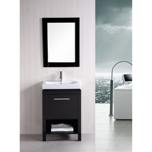 "Load image into Gallery viewer, Design Element New York 24"" Single Sink Vanity Set in Espresso DEC091A - Vanity Connection"