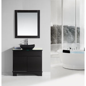 "Design Element Oasis 36"" Single Sink Vanity Set with Decorative Drawer in Espresso DEC105-36 - Vanity Connection"
