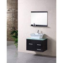 "Load image into Gallery viewer, Design Element Portland (Madrid) 30"" Single Sink – Wall Mount Vanity Set in Espresso 