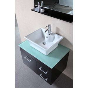 "Design Element Portland (Madrid) 30"" Single Sink – Wall Mount Vanity Set in Espresso 
