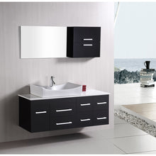 Load image into Gallery viewer, Design Element Portland (Springfield) 53″ Single Sink – Wall Mount Vanity Set in Espresso DEC1101 - Vanity Connection