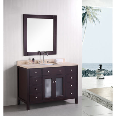 Design Element Venetian 48″ Single Sink Vanity Set in Espresso DEC302C - Vanity Connection