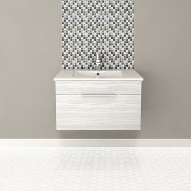 Cutler Kitchen and Bath Textures Wall Hung Vanity - Vanity Connection