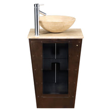 "Load image into Gallery viewer, Silkroad Exclusive 22"" Travertine Top Single Sink Bathroom Vanity - HYP-0155-T-22 - Vanity Connection"