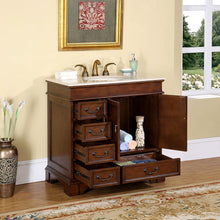 "Load image into Gallery viewer, Silkroad Exclusive 36"" Single Sink Bathroom Vanity - HYP-0212 - Vanity Connection"