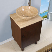 "Load image into Gallery viewer, Silkroad Exclusive 20"" Travertine Top Single Sink Bathroom Vanity - HYP-0225-T-20 - Vanity Connection"