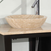 "Load image into Gallery viewer, Silkroad Exclusive 26"" Travertine Top Single Sink Bathroom Vanity - HYP-0711-T-TT-26 - Vanity Connection"