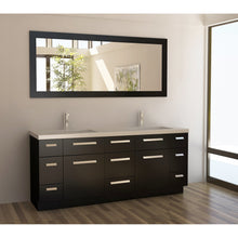 "Load image into Gallery viewer, Design Element Moscony 72"" Double Sink Vanity Set in Espresso J72-DS - Vanity Connection"