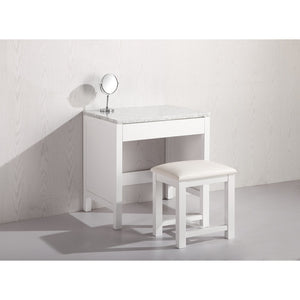 Design Element Make up Table- White MUT-W - Vanity Connection