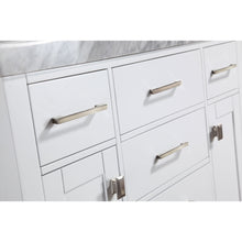 "Load image into Gallery viewer, Pacific Collection 40"" Malibu White Single Modern Bathroom Vanity with White Marble Top and Undermount Sink - Vanity Connection"