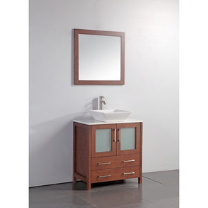 "Legion Furniture 24"" Solid Wood Sink Vanity with Mirror WA7824 - Vanity Connection"