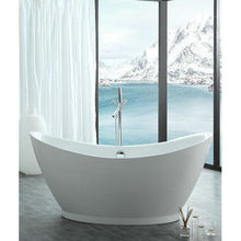 "Load image into Gallery viewer, Legion Furniture 67.3"" White Acrylic Tub WE6513-J - Vanity Connection"