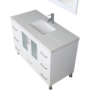"Design Element Westfield 48""  Single Sink Vanity Set in White WF-48-W - Vanity Connection"